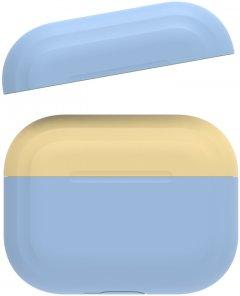 Двухцветный cиликоновый чехол AhaStyle для Apple AirPods Pro Dark Blue Yellow (AHA-0P200-SSY)