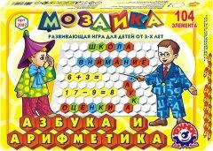 Игровой набор ТехноК мозаика Азбука и арифметика (2087) (4823037602087)