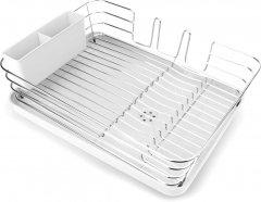 Сушка для посуды с органайзером MVM 39х30х12 см Белая (DR-02 WHITE)