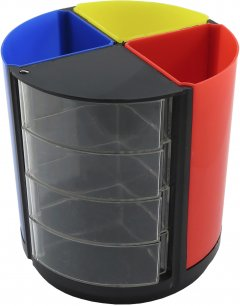 Подставка для офисных принадлежностей Klerk Пластиковая Разноцветная (Я17346_KL0985)