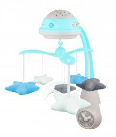 Карусель музыкальная Canpol Babies электронная с проектором Голубая (75/100_blu)