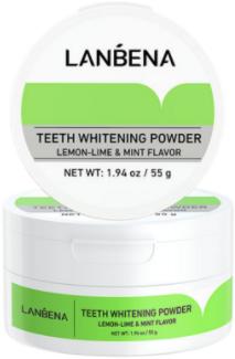 Зубной порошок Lanbena Отбеливающий 55 г (6970470533725)