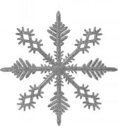 Елочные игрушки Christmas Decoration Снежинка 28х28 см Серебристая (AWR105260_silver)