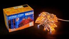 Светодиодная гирлянда DELUX STRING 100LED 10 м Белый flash Желтый/Прозрачный IP44 (90015188)