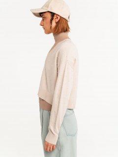 Пуловер Befree 2131310815_61 S Кремовый со светло-бежевым (4640078317752)