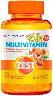 Зест ZEST Кидз Жевательные пастилки Мультивитамин 60 шт (000001224)
