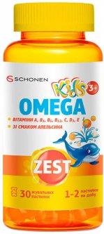 Зест ZEST Kids Omega Витамины для детей №30 жевательных пластинок (000001225)