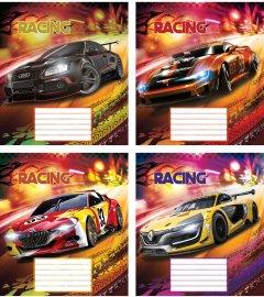 Набор тетрадей ученических Мрії збуваються Racing B5 клетка 12 листов на скобе картонная обложка 4 дизайна 20 шт (ТА5.1211.3180к)
