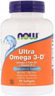 Жирные кислоты Now Foods Ultra Omega-3-D 90 капсул (733739016638)