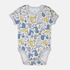 Боди-футболка Minikin Cutesaur 211603 74 см Белый/Серый (2020439000677)