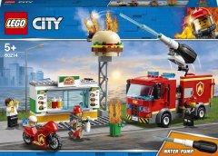 Конструктор LEGO City Пожар в бургер-кафе 327 деталей (60214)