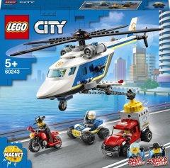 Конструктор LEGO City Police Погоня на полицейском вертолёте 212 деталей (60243)