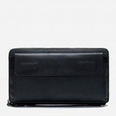 Мужская борсетка из натуральной кожи Vintage leather-14654 Черное