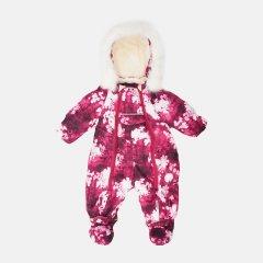 Зимний комбинезон-трансформер Garden Baby 101019-63/33/46 68 см Малиновый с белым (4821010196332)