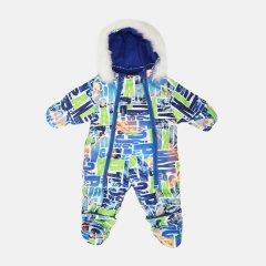 Зимний комбинезон-трансформер Garden Baby 101019-63/33/46 68 см Салатовый с синим (4821010194314)
