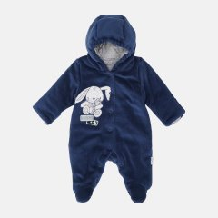 Демисезонный велюровый комбинезон Garden Baby Happy 12109-01/32 56 см Индиго (4821210901163)