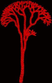 Новогодняя светодиодная декорация Scorpio Дерево 180x115 см 760 светодиодов Красная (560493) (4820005604937)