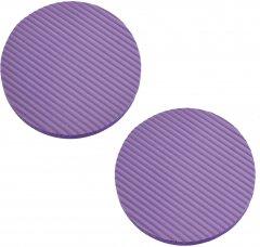 Нескользящие коврики Supretto под локти и колени для йоги и фитнеса 2 шт Фиолетовые (6064-0001)