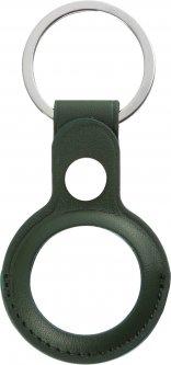 Чехол-брелок ArmorStandart PU Leather Ring для Apple AirTag Dark Green (ARM59116)