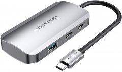 Док-станция Vention Hub 5-in-1 USB 3.1 Type-C - USB 3.0x3/USB-C port Gen 1/PD 100W (TNDHB)