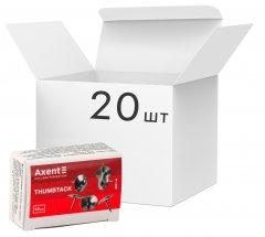 Набор кнопок Axent никелированных 20 пачек по 50 шт (4201-А) (4250266252026)