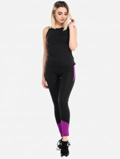 Спортивный костюм ISSA PLUS 1610 L Черный с фиолетовым (2000000302515)