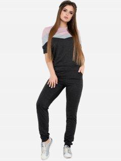 Спортивный костюм ISSA PLUS 10590 XL Темно-серый (2000074250156)