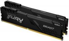 Оперативная память Kingston Fury DDR4-3200 32768MB PC4-25600 (Kit of 2x16384) Beast Black (KF432C16BB1K2/32)