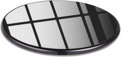 Беспроводное зарядное устройство Ailink Slim Pad Premium Glass с технологией QI Черное (AI-Slim2bk)