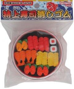 Набор ластиков для карандаша Iwako Суши сет 10 шт (ER-SUS003) (4991685140098)