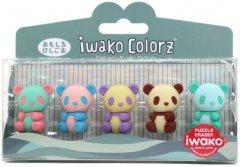 Набор ластиков для карандаша Iwako Пандочки 5 шт (ER-GLB003) (4991685001573)