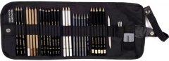 Художественный набор Koh-i-Noor на 31 предмет текстильный пенал (8891/6)