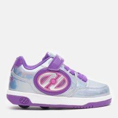 Роликовые кроссовки Heelys Plusx2 Lighted HE100012 32 19 см Silver/Purple/Pink (889642818668)