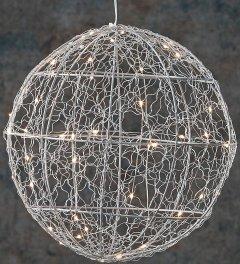 Шар декоративний Luca Lighting диаметр 25 см 30 led Серебристый (8718861660951)