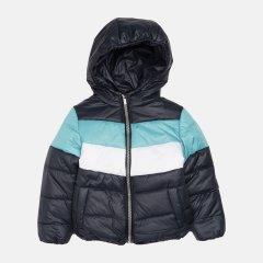 Демисезонная куртка Одягайко 22739 134 см Синяя с бирюзовым (ROZ6400141886)
