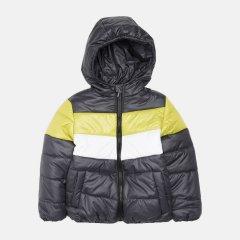 Демисезонная куртка Одягайко 22739 122 см Темно серая с салатовым (ROZ6400141880)