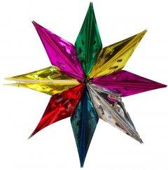 Декоративная подвеска Маг2000 Звезда 57 см Разноцветная (5102681610228)