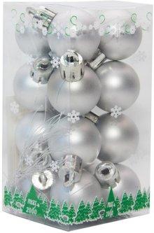 Набор елочных шаров mag-2000 25 мм 16 шт Серебристый (5102682890537)