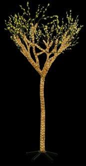 Новогодняя светодиодная декорация Scorpio Дерево 160x260 см 1900 светодиодов Белая (560554) (4820005605545)