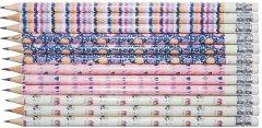 Набор карандашей чернографитных HB Malevaro Pink Angel Notes с ластиком 12 шт (AN11013-12)