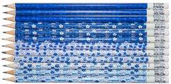 Набор карандашей чернографитных HB Malevaro Blue Angel Notes с ластиком 12 шт (AN12015-12)