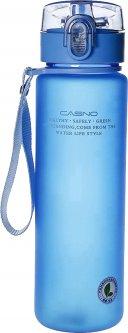 Бутылка для воды Casno KXN-1183 с металлическим венчиком 850 мл Синяя (KXN-1183_Blue)