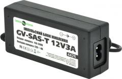 Импульсный адаптер питания Green Vision GV-SAS-C 12V3A с вилкой (36W) (LP4429)