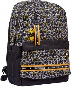 Рюкзак YES S-56 Smiley World.Black&Yellow черный унисекс 20 л (554561)