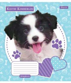 Набор тетрадей ученических 1 Вересня Keith Kimberlin Pet portrait А5 12 листов в клетку 25 шт (765328)