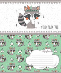 Набор тетрадей ученических 1 Вересня Wild and free А5 12 листов в косую линейку без дополнительной линии 25 шт (765660)
