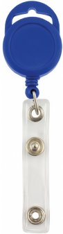 Набор держателей для бейджей Optima с рулеткой 50 шт Синий (O45657-02)
