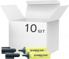 Набор текстовых маркеров Edding Highlighter 2-5 мм 10 шт Желтых (e-345/05)
