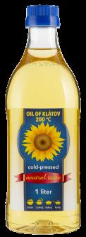Масло подсолнечное Oil of Klatov холодного отжима органическое 1 л (8588004691681)