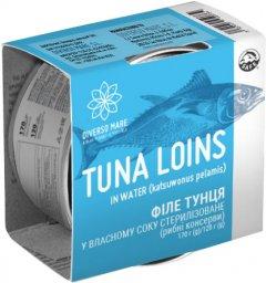 Филе тунца в собственном соку Diverso Mare стерилизованное 170 г (8437019459734)